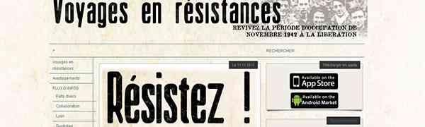 HISTOIRE : Voyages en résistances